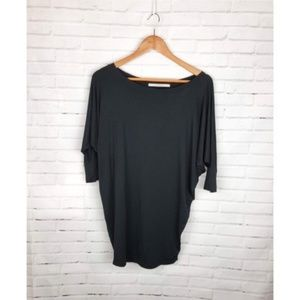 41 Hawthorn Black Batwing Sleeve Knit Blouse